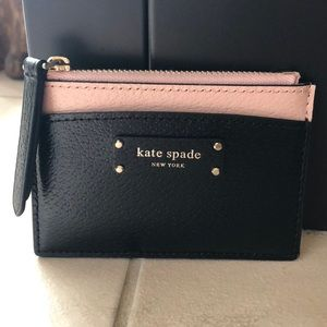 NWT Kate Spade Small Zip Card Holder